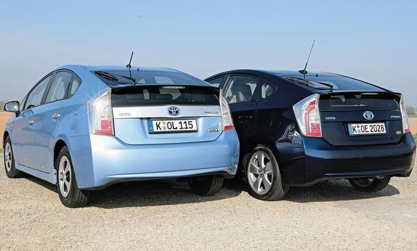 Toyota Prius 2014 Antriebsvergleich Vergleich Hybrid Plug-in-Hybrid