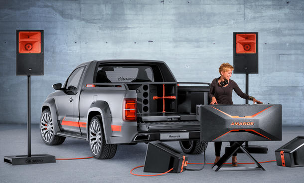 VW Amarok Power GTI Treffen am Wörthersee 2014 DJ Mobiles Sound-System Pickup
