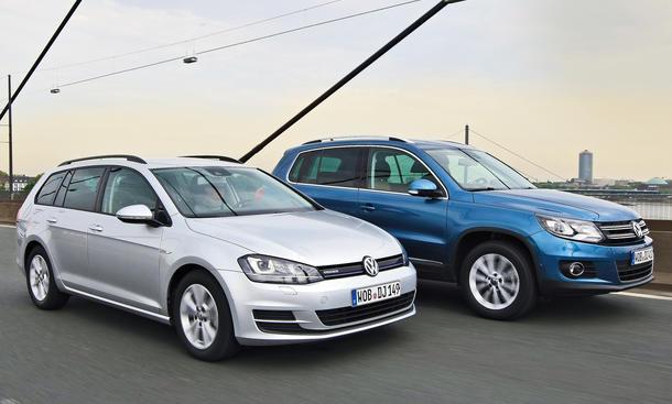 VW Golf Variant Tiguan 2014 Vergleich SUV Konzeptvergleich Bilder
