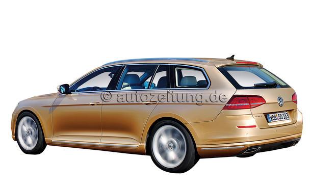 VW Neuheiten Passat Variant 2014 Neuheit Bilder Rendering