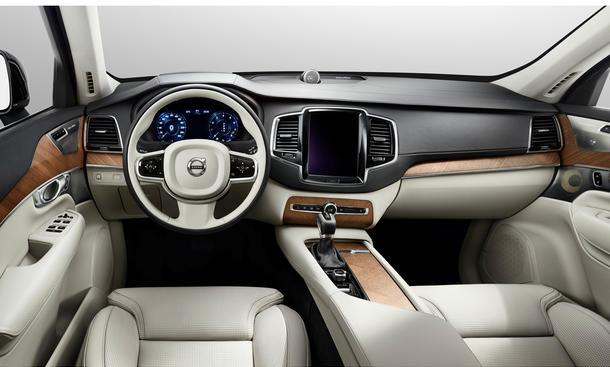 Volvo XC90 2015 Innenraum Interieur Luxus-SUV Geländewagen Infotainment Bilder Fotos
