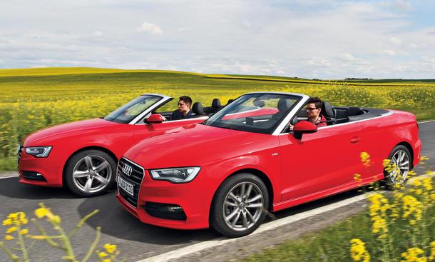 Audi A3 A5 Cabrio Vergleich Bilder technische Daten