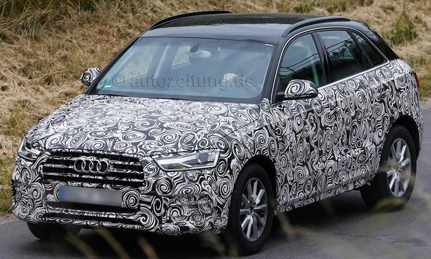 2015 Audi Q3 Facelift Kompakt SUV Erlkoenig Modellpflege