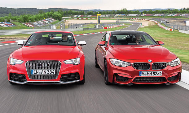 bmw m4 vs audi rs 5 sportcoupe vergleich bild 2. Black Bedroom Furniture Sets. Home Design Ideas