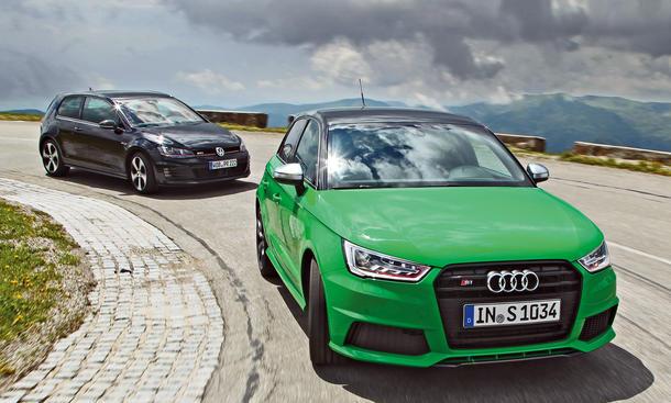 Audi S1 Sportback VW Golf GTI Kompaktsportler Vergleich Bilder technische Daten