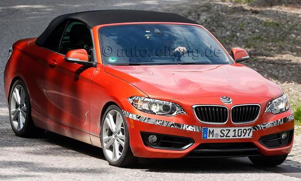BMW 2er Cabrio 2015 Erlkoenig ungetarnt Stoffdach Cabriolet