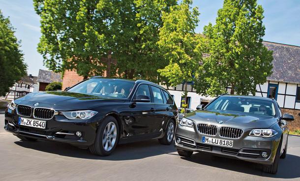 BMW 320i touring 520i touring 3er 5er Vergleich Kombi Bilder