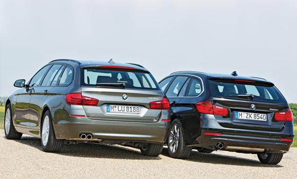 BMW 3er vs. 5er: Konzeptvergleich von 320i Touring und 520i Touring