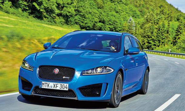 Jaguar XFR-S Sportbrake 2014 Fahrbericht Sportkombi Bilder