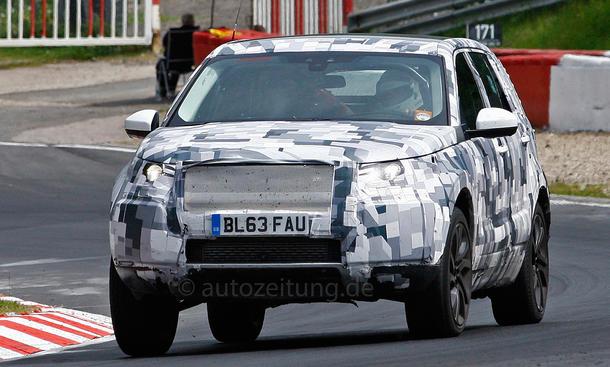 Land Rover Discovery Sport Erlkönig 2014 Nürburgring Prototyp Geländewagen