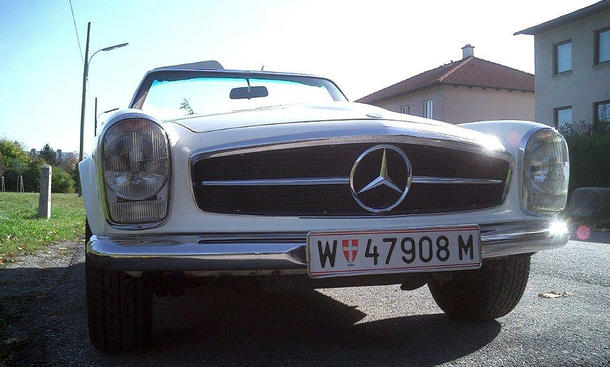 Mercedes SL Pagode gestohlen weiss Baujahr 1968 Diebstahl