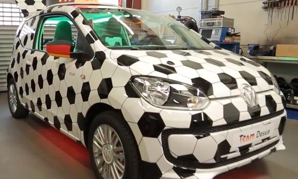 Fußball-WM 2014 Brasilien Fan-Auto Autokorso Public Viewing