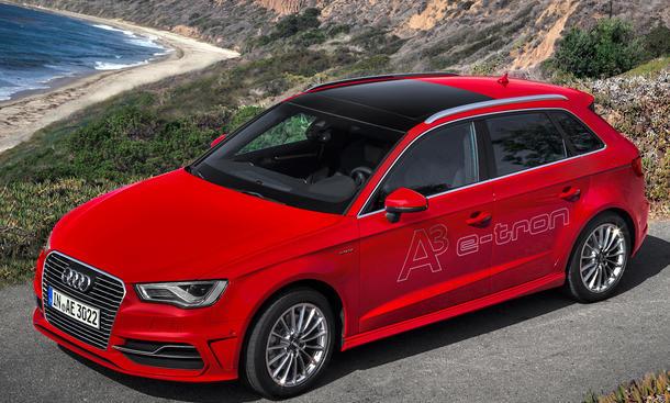 Alle Plug-In Hybride 2014 Audi A3 e-tron BMW i8 McLaren P1 VW Golf GTE Audi A3 e-tron