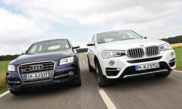 BMW X4 xDrive35d Audi SQ5 SUV Diesel Allrad Vergleich Test