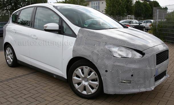 2014 - [Ford] C-Max Restylé - Page 2 Ford-C-Max-Facelift-2014-Erlkoenig-Kompakt-Van-02