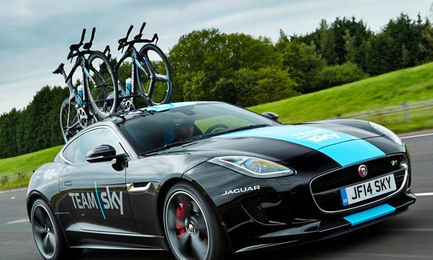 Jaguar F Type Tour de France Fahrrad Team Sky 3