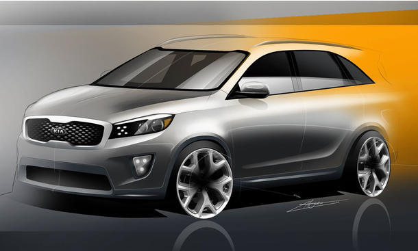 kia sorento 2015 suv premiere auf der la auto show 2014. Black Bedroom Furniture Sets. Home Design Ideas