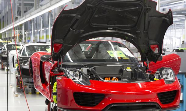 Porsche Produktion 911 Boxster Cayman 918 Spyder STammwerk Zuffenhausen