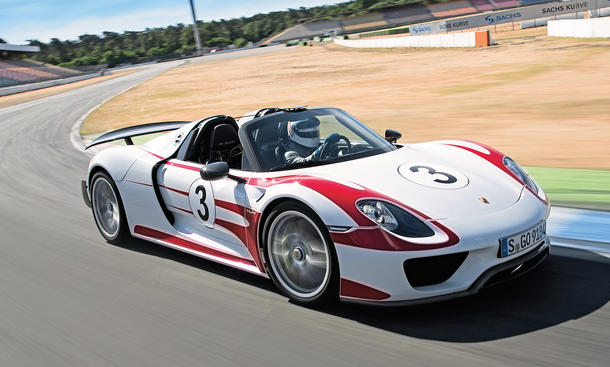 porsche 918 spyder 2014 tracktest mit dem supersportwagen. Black Bedroom Furniture Sets. Home Design Ideas