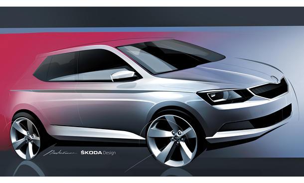 Skoda Fabia 2015 Design Skizze Pariser Autosalon 2014 Kleinwagen