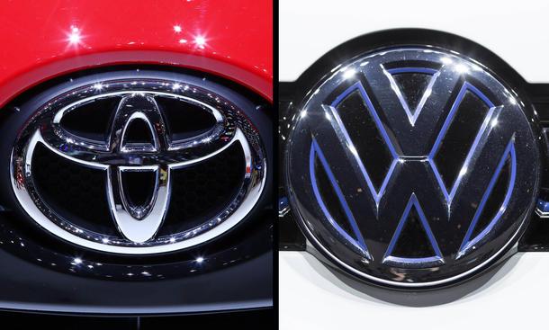 Toyota VW Logo Verkaufszahlen 2014 weltgrößte Autobauer Kampf um Position 1