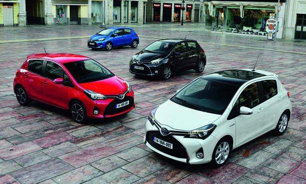Toyota Yaris Facelift 2014 technische Daten Motoren Kleinwagen Bilder Hybrid Markteinführung