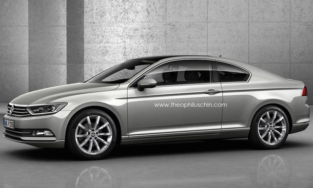 VW Passat 2014 Coupe Design Studie 01