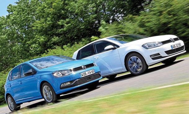 VW Golf Polo Vergleich Test Bilder technische Daten