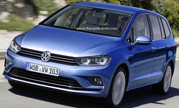 VW Touran 2015 Van kompakt Neu Zeichnung Design Premiere Bilder