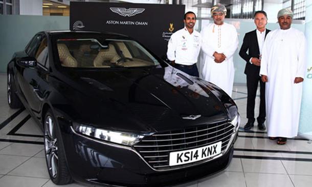 Wie eine Vorstellung: Aston Martin Lagonda 2015 beim Test im Oman