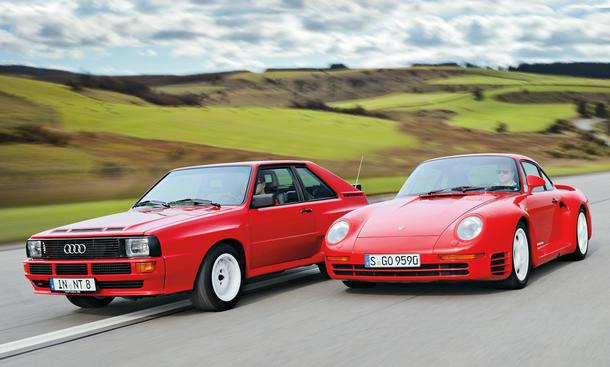 Audi Sport quattro vs. Porsche 959: Vergleich