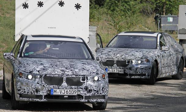 BMW 7er 2015 Erlkoenig Langversion G11 G12 Luxus Limousine