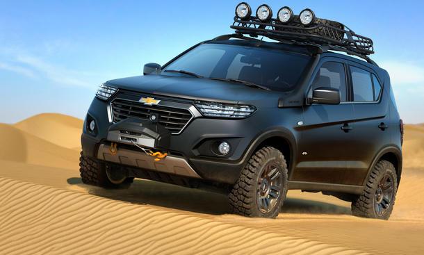 Chevrolet Niva Concept Moskau Auto Show 2014 SUV Geländewagen