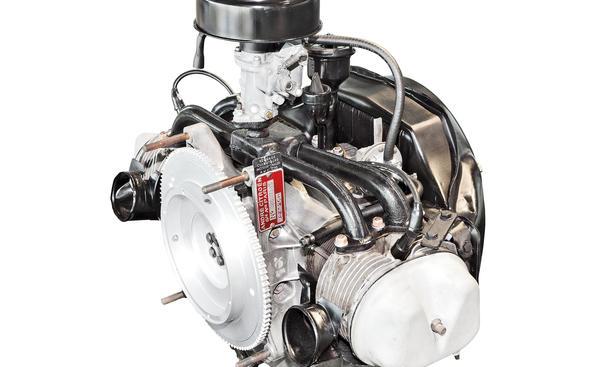 Citroen 2 CV Zweizylinder-Boxer Motor Technik Bilder
