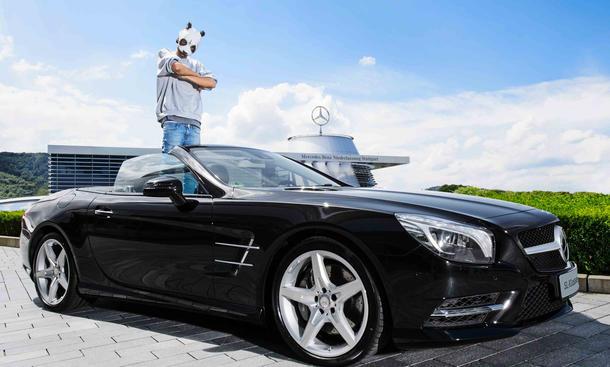 Cro Mercedes SL Cars Stars Promis Autos Berühmtheiten