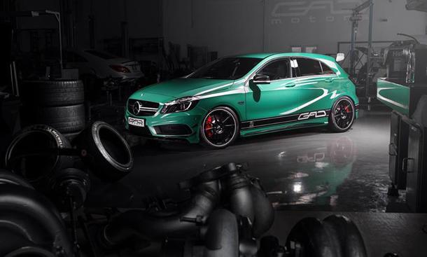 GAD Motors Mercedes A45 AMG Tuning Leistungssteigerung Tieferlegung