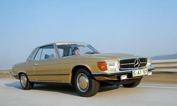 Historie Mercedes Luxus-Coupés Vergleich Mercedes 450 SLC 5.0 C 107 Bilder