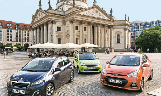 Peugeot 108 vs. Skoda Citigo  Hyundai i10: Kleinwagen-Vergleich