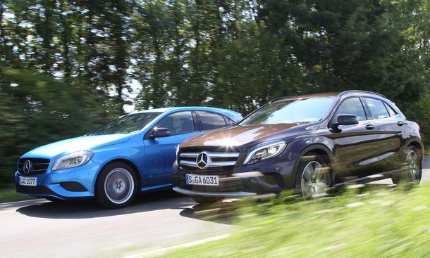 Mercedes A 200 GLA 200 Vergleich Bilder technische Daten Kompaktklasse