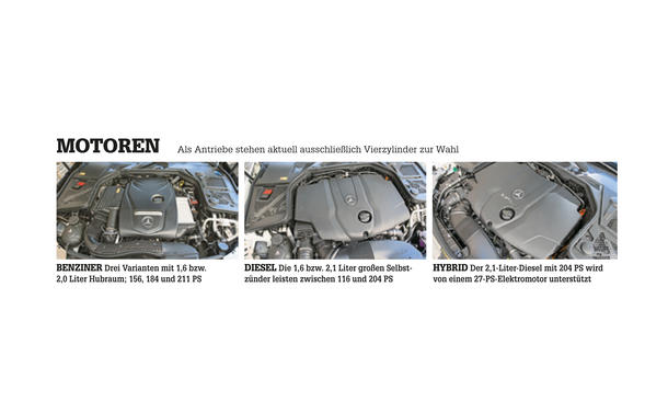 Mercedes C-Klasse Limousine T-Modell Kaufberatung Bilder technische Daten Motor