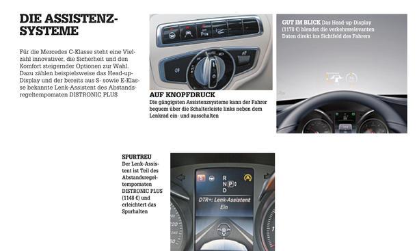 Mercedes C-Klasse Limousine T-Modell Kaufberatung Bilder technische Daten Assistenzsysteme
