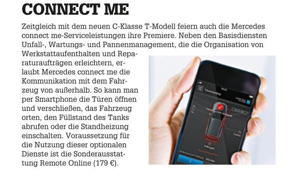 Mercedes C-Klasse Limousine T-Modell Kaufberatung Bilder technische Daten Connect Me