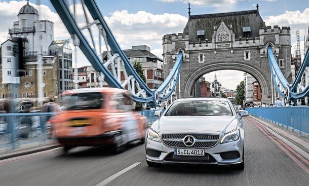 Mercedes CLS 400: Mit dem gefacelifteten Coupé durch London