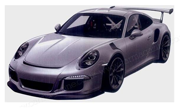 Porsche 911 GT3 RS 2015 991 Patent Zeichnungen Bilder Supersportwagen1