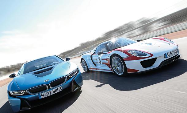 BMW i8 vs. Porsche 918 Spyder: Hybrid-Sportler im Vergleich
