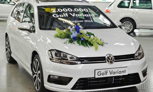 VW Golf Variant Jubilaeum 2014 2 Millionen Produktion