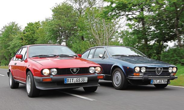 Alfetta GTV 2.0 L  Alfa GTV6 2.8 Gleich-Tuning: Sportcoupes im Fahrbericht