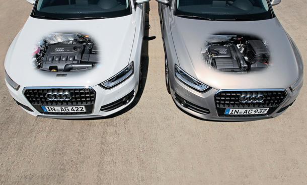 Audi Q3 1.4 TFSI 2.0 TDI Benziner Diesel SUV Vergleich