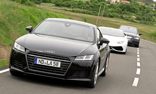 Audi TT A7 Lamborghini Huracan Qualität Erprobung Abnahmefahrt Bilder