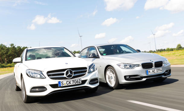 Mittelklasse-Limousinen im Vergleich: Mercedes C 250 BlueTEC vs. BMW 325d